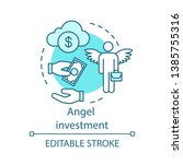 angel investment concept icon.... | Shutterstock .eps vector #1385755316