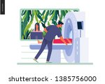 medical tests illustration  ... | Shutterstock .eps vector #1385756000