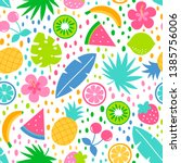 colorful tropical summer... | Shutterstock .eps vector #1385756006