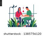 medical tests illustration  ... | Shutterstock .eps vector #1385756120