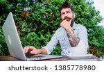 keep on blogging. bearded man...   Shutterstock . vector #1385778980
