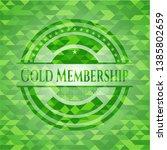 gold membership green emblem.... | Shutterstock .eps vector #1385802659