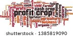 profit crop word cloud concept. ... | Shutterstock .eps vector #1385819090