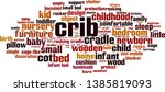 crib word cloud concept.... | Shutterstock .eps vector #1385819093