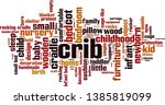 crib word cloud concept.... | Shutterstock .eps vector #1385819099