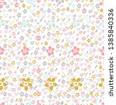 seamless fabric pattern set...   Shutterstock .eps vector #1385840336