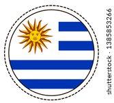 uruguay flag sticker on white...   Shutterstock .eps vector #1385853266