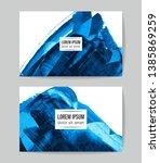 set of vector business card... | Shutterstock .eps vector #1385869259