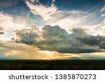 thunder storm sky rain clouds | Shutterstock . vector #1385870273