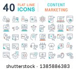 set of vector line icons of... | Shutterstock .eps vector #1385886383