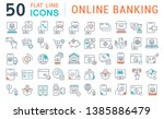 set of vector line icons of... | Shutterstock .eps vector #1385886479