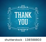 thank you message and antique... | Shutterstock .eps vector #138588803