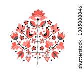 tree of life. ethnic ukrainian... | Shutterstock .eps vector #1385888846