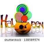 background of halloween  ... | Shutterstock . vector #138589574
