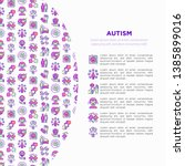 autism concept  symptoms and... | Shutterstock .eps vector #1385899016