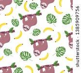 hand drawn seamless pattern... | Shutterstock .eps vector #1385909756