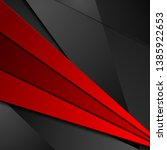 red and black tech corporate...   Shutterstock .eps vector #1385922653