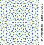 flower pattern. seamless... | Shutterstock .eps vector #1385927213