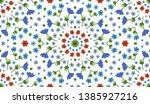 flower pattern. seamless... | Shutterstock .eps vector #1385927216
