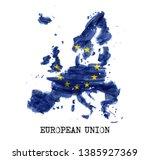european union flag   eu  ... | Shutterstock .eps vector #1385927369