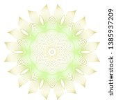 light color mandala ornamnet.... | Shutterstock .eps vector #1385937209