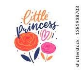 hand drawn lettering little... | Shutterstock .eps vector #1385938703