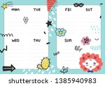daily planner template. note... | Shutterstock .eps vector #1385940983