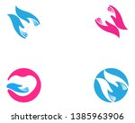 hand care logo template vector... | Shutterstock .eps vector #1385963906