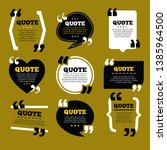 quote frames templet design... | Shutterstock .eps vector #1385964500