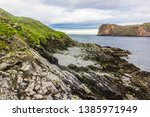 stony landscape and sea view ... | Shutterstock . vector #1385971949