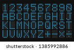 digital letters and numbers... | Shutterstock .eps vector #1385992886