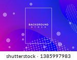 abstract fluid banner with... | Shutterstock .eps vector #1385997983