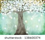 flowering tree   hand drawing...   Shutterstock .eps vector #138600374