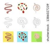 vector design of mammal and... | Shutterstock .eps vector #1386027239