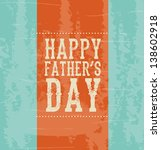 Happy fathers day over blue background vector illustration