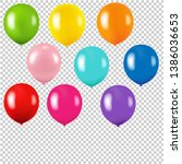 Colorful Balloon Isolated...