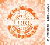 turk orange mosaic emblem.... | Shutterstock .eps vector #1386066026