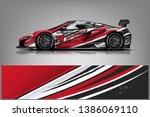 sport car racing wrap design.... | Shutterstock .eps vector #1386069110