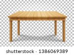 realistic wooden table on... | Shutterstock .eps vector #1386069389