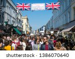london   april 20  2019 ... | Shutterstock . vector #1386070640