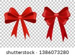 realistic decorative bow ... | Shutterstock .eps vector #1386073280