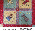 1930s reproduction fabrics... | Shutterstock . vector #1386074483