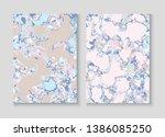liquid paint marble vector...   Shutterstock .eps vector #1386085250