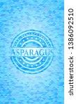 asparagus light blue emblem...   Shutterstock .eps vector #1386092510