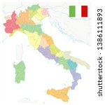 italy administrative divisions... | Shutterstock .eps vector #1386111893
