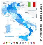 italy administrative divisions... | Shutterstock .eps vector #1386111896