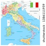 italy administrative divisions... | Shutterstock .eps vector #1386111959
