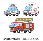 police patrol car  emergency... | Shutterstock .eps vector #1386115223