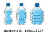 water bottles isolated cartoon... | Shutterstock .eps vector #1386115229