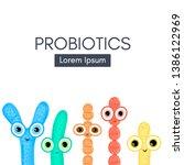 probiotics. lactic acid... | Shutterstock .eps vector #1386122969